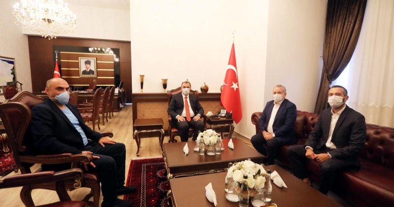 Büyükelçi Dişli'den Vali Çetin Oktay Kaldırım'a Ziyaret