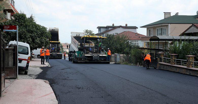 O caddelerde asfalt çalışmaları başladı