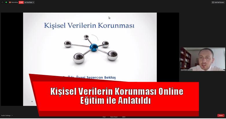 Kişisel Verilerin Korunması Online Eğitim ile Anlatıldı