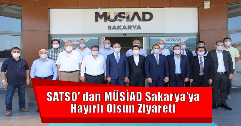 SATSO'dan MÜSİAD Sakarya'ya Hayırlı Olsun Ziyareti