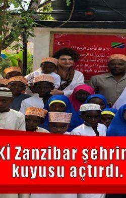 SASKİ Zanzibar şehrinde su kuyusu açtırdı.