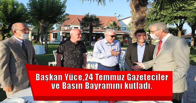 Başkan Yüce Sakarya'nın yerel ve ulusal basın temsilcileri ile bir araya geldi.