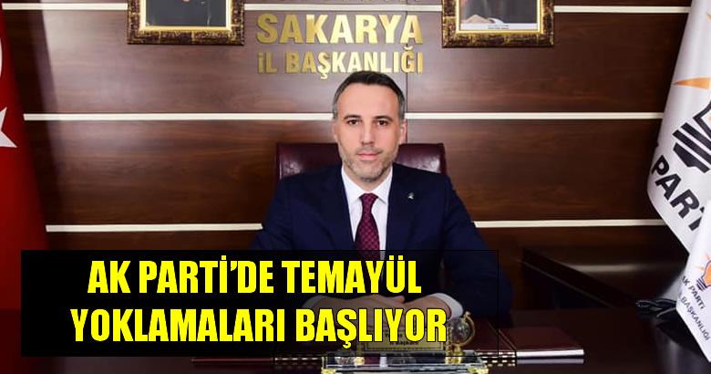 AK PARTİ'DE TEMAYÜL YOKLAMALARI BAŞLIYOR