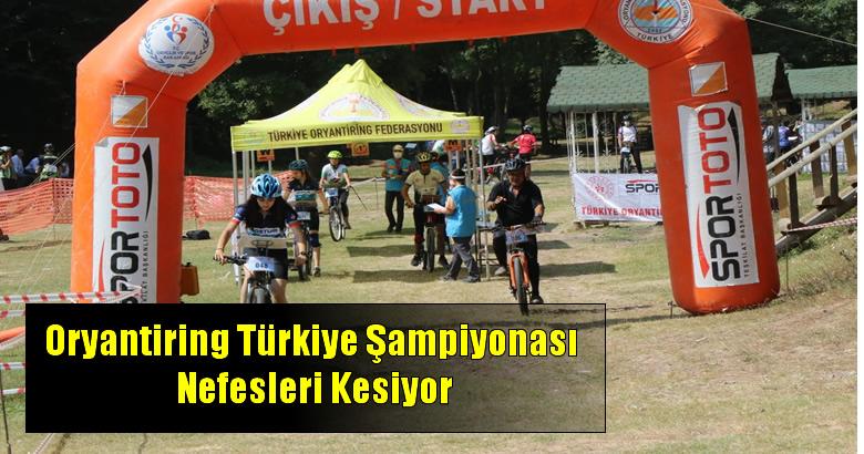 Oryantiring Türkiye Şampiyonası Nefesleri Kesiyor