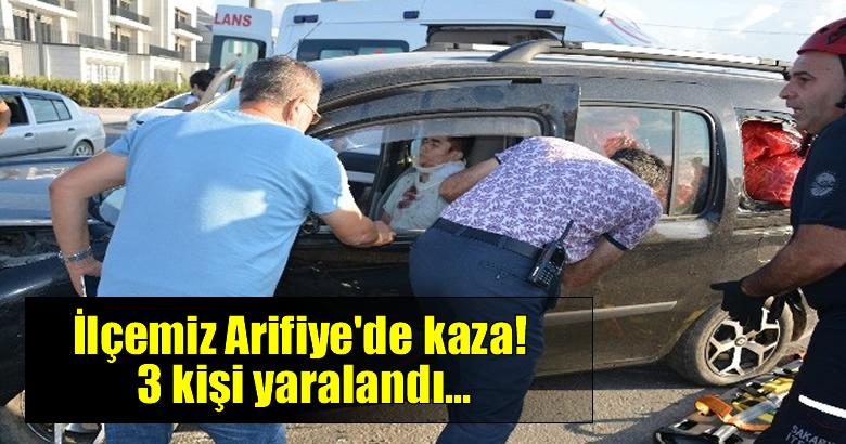 İlçemiz Arifiye'de kaza! 3 kişi yaralı…