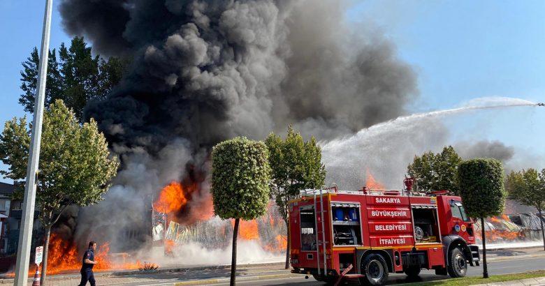 Yangına müdahale sürüyor