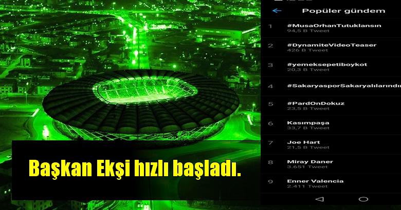 #SakaryasporSakaryalılarındır etiketi Türkiye gündeminde