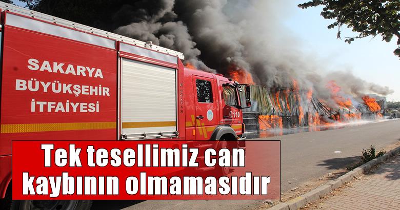 Büyükşehir itfaiyesi yangına anında müdahale etti