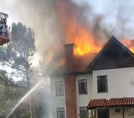 Boğazköy'de Yangın!