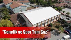 Arifiye Süleyman Edip Balkır Spor Salonunda bakım ve onarım çalışmaları devam ediyor.