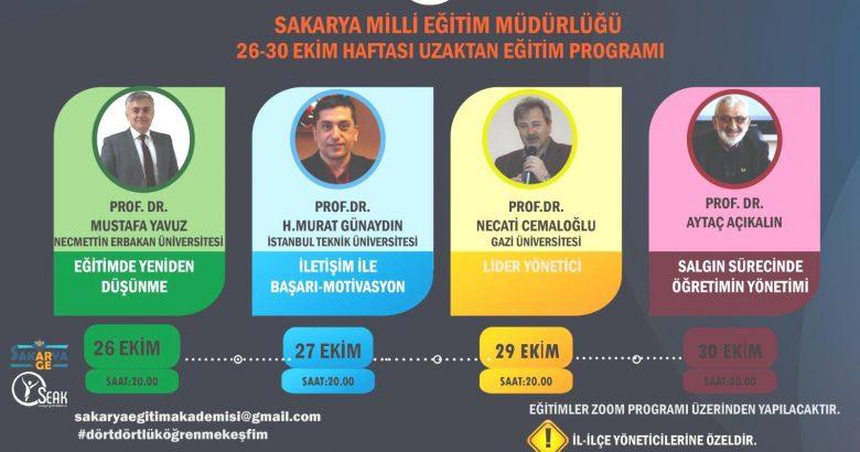 Sakarya MEM'den Uzaktan Eğitim Konferansları