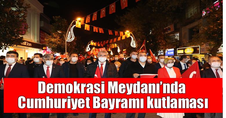 Demokrasi Meydanı'nda Cumhuriyet Bayramı kutlaması