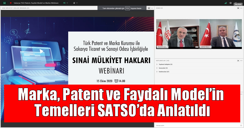 Marka, Patent ve Faydalı Model'in Temelleri SATSO'da Anlatıldı