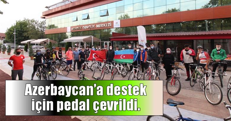 Azerbaycan'a destek için pedal çevrildi.