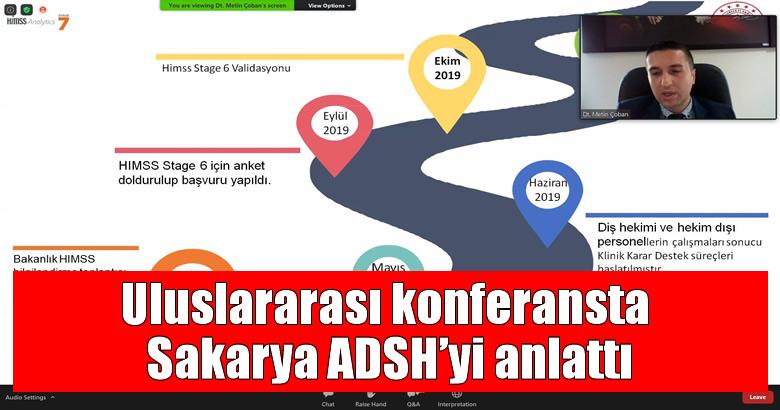 Uluslararası konferansta Sakarya ADSH'yi anlattı