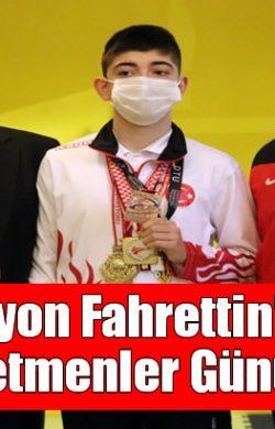 Şampiyon Fahrettin'ten En Güzel Öğretmenler Günü Hediyesi