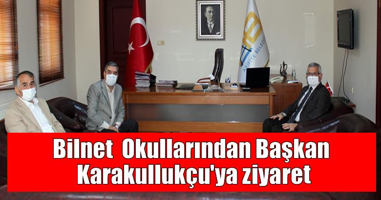 Bilnet  Okullarından Başkan Karakullukçu'ya ziyaret