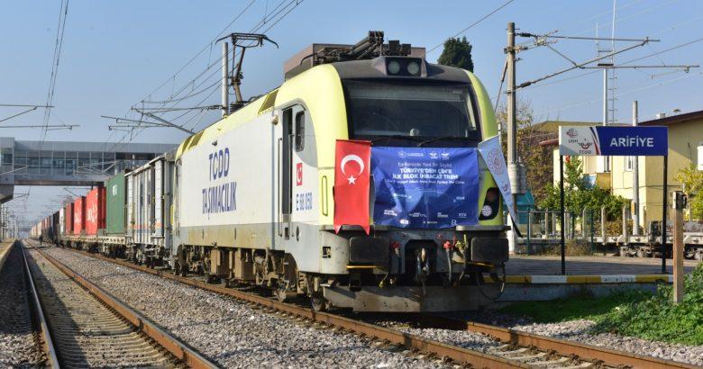 Türkiye-Çin İhracat Treni Arifiye'den geçti.