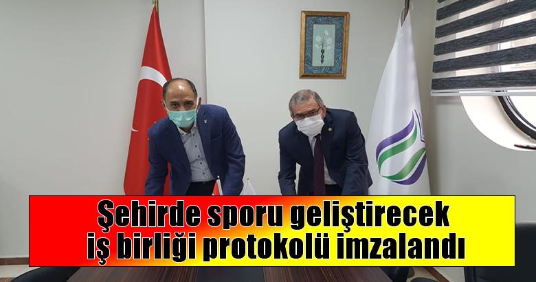 Şehirde sporu geliştirecek iş birliği protokolü imzalandı
