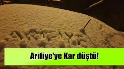 Arifiye'ye Kar düştü!