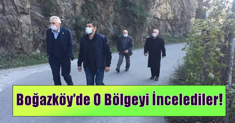 Boğazköy'de O Bölgeyi İncelediler!
