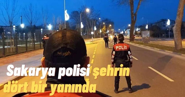 Sakarya polisi şehrin dört bir yanında