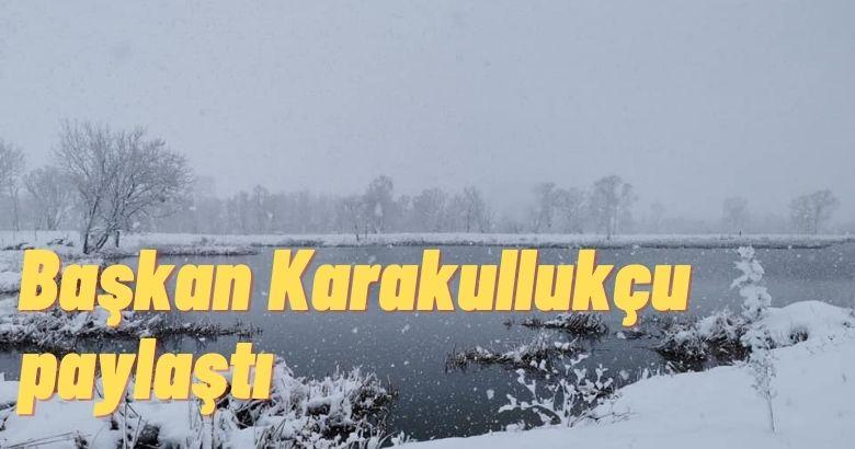 Arifiye Gölya Tabiat Parkından kar manzaraları