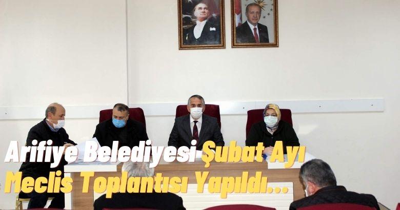 Arifiye Belediye Meclisi gündeme alınan 3 maddeyi görüşerek karara bağladı.