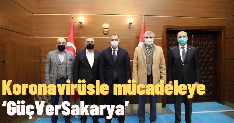Koronavirüsle mücadeleye 'GüçVerSakarya'