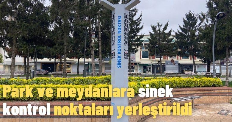 Park ve meydanlara sinek kontrol noktaları yerleştirildi