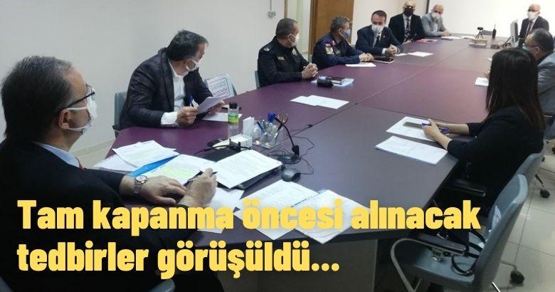 Arifiye'de Tam Kapanma Genelgesi Kapsamında Toplantı Gerçekleştirildi.