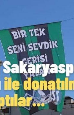 Arifiye'nin Sakaryaspor bayrakları ile donatılması çağrısı yaptılar…