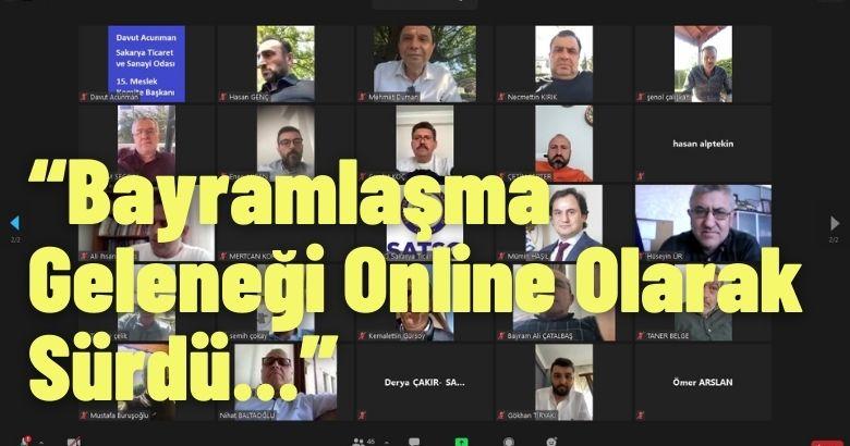 SATSO Camiası Bayramlaşma Geleneğini Online Olarak Sürdürdü