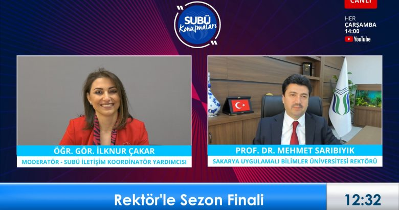 Rektör Sarıbıyık'tan canlı yayında müjde