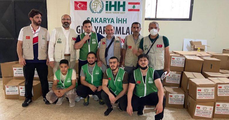 Sakarya İHH Lübnan'da Mülteci Kamplarına Yardım Götürdü
