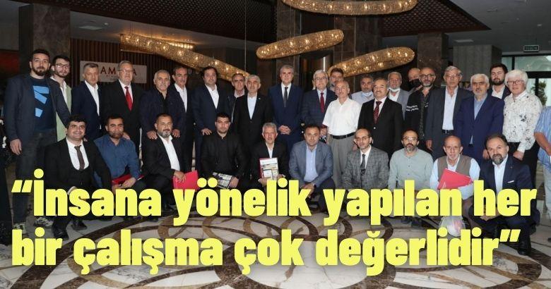 Başkan Ekrem Yüce, Yeni Dünya Vakfının düzenlendiği programa katıldı.
