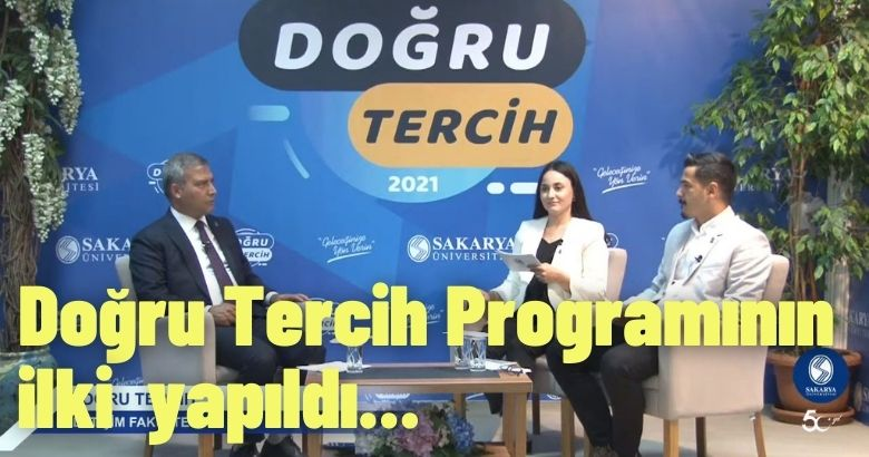 Sakarya Üniversitesi ile Doğru Tercih Programının ilki İletişim Fakültesi ile yapıldı