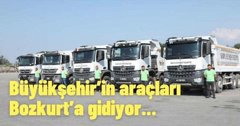 Büyükşehir'in araçları Bozkurt'a gidiyor