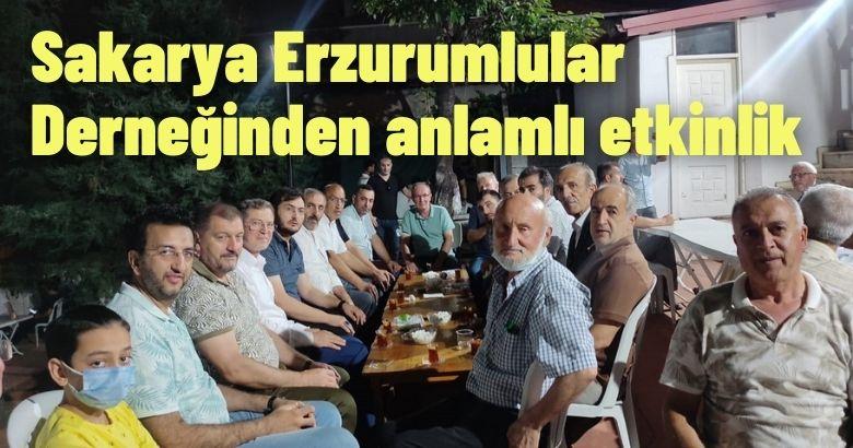 Sakarya Erzurumlular Derneğinden anlamlı etkinlik