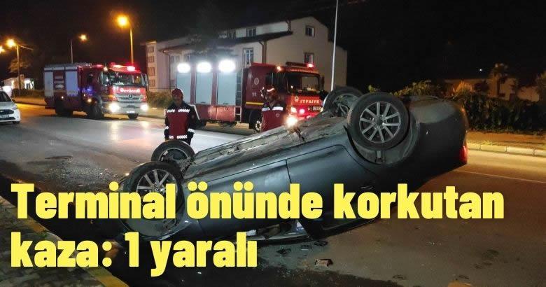 Terminal önünde korkutan kaza: 1 yaralı