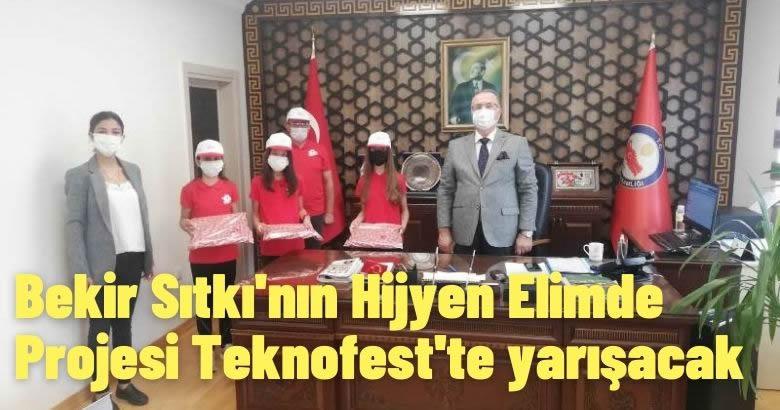 Bekir Sıtkı'nın Hijyen Elimde Projesi Teknofest'te yarışacak